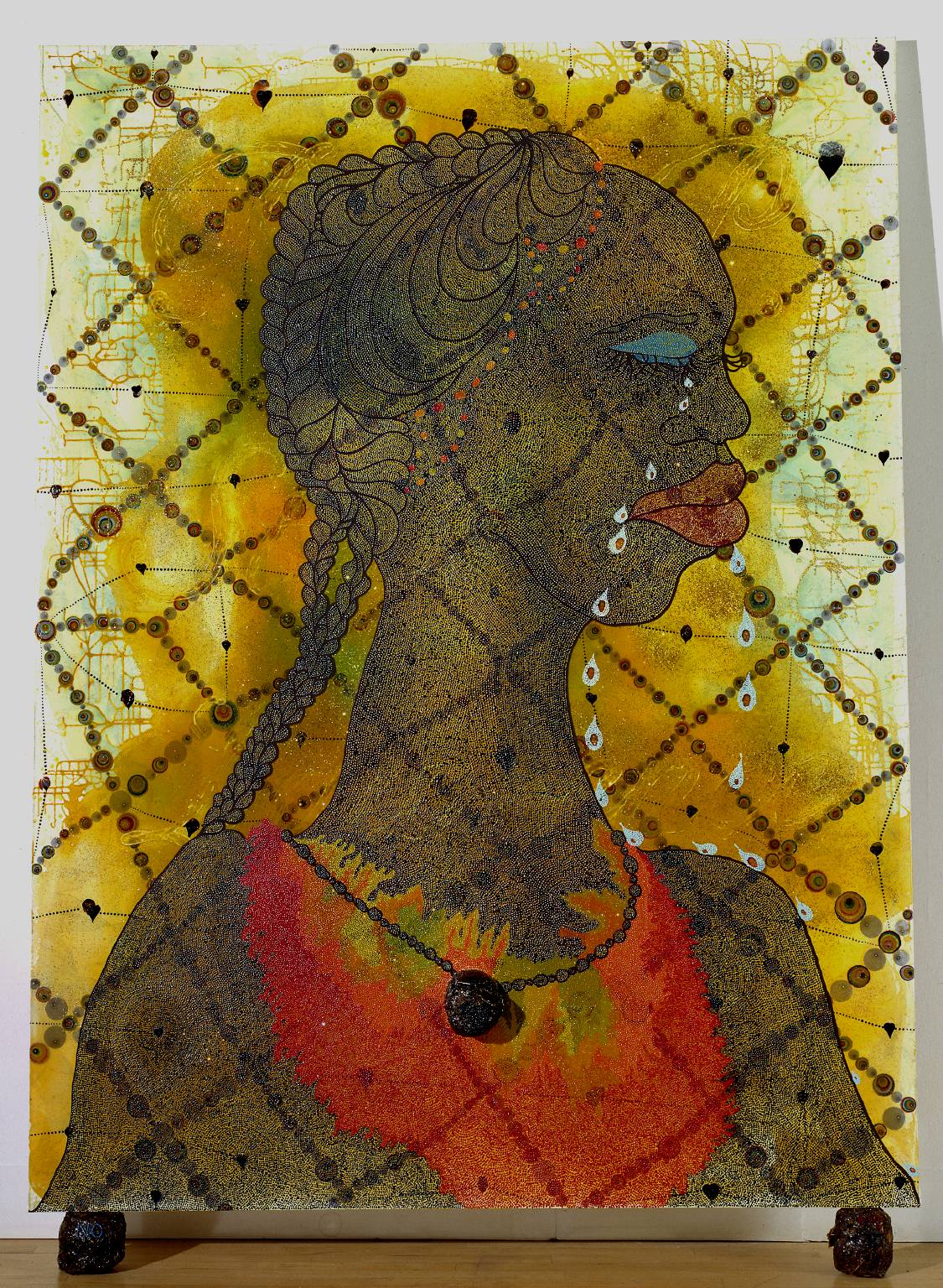 No Woman, No Cry 1998 Chris Ofili born 1968 Purchased 1999 http://www.tate.org.uk/art/work/T07502