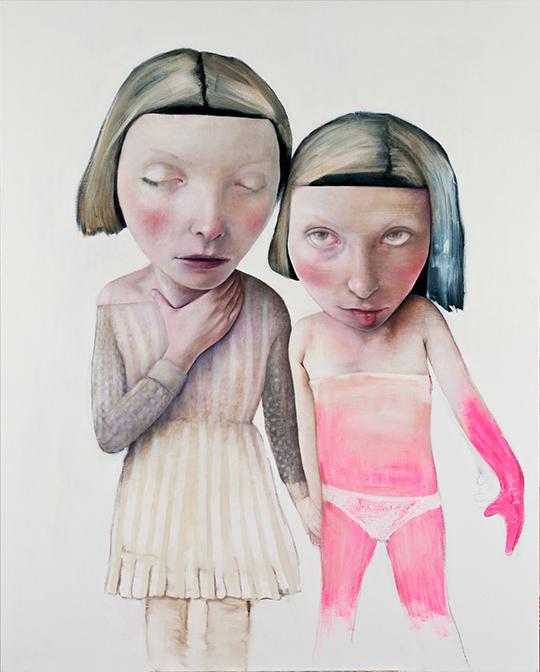 Daughter 1, 2012, olieverf en acryl op doek, 150 x 130 cm